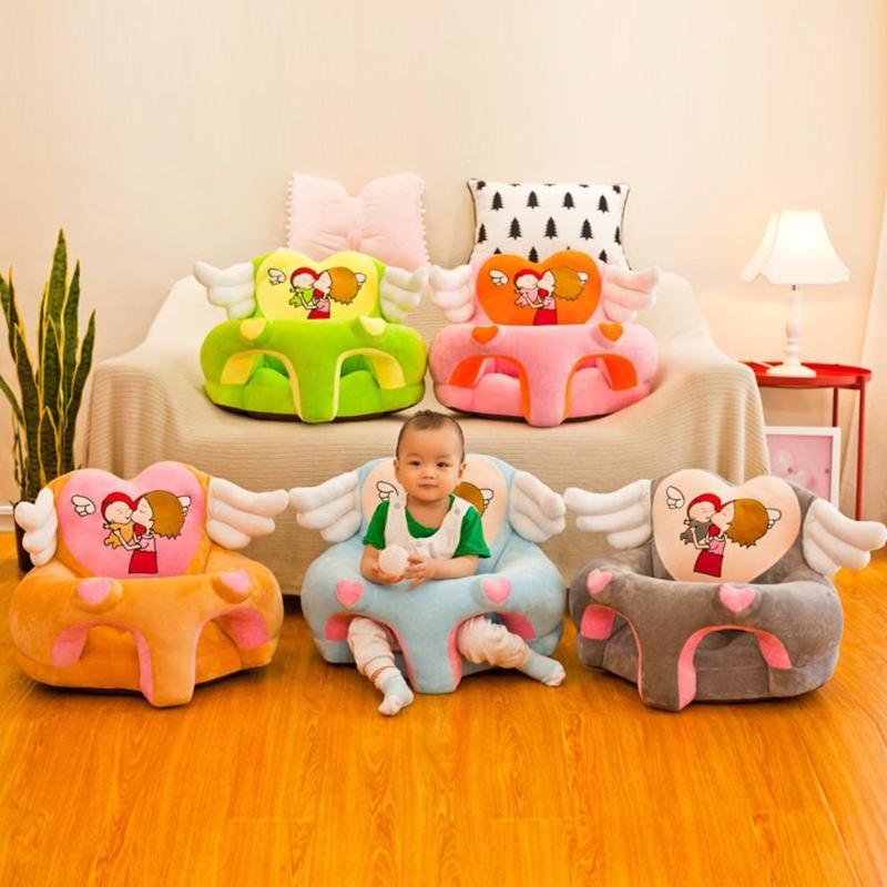 lovebabymammy.com Kid Sofa Support Seat Cover Learning To Sit Plush Comfortable Toddler Nest Puff Washable Cover Skin for Baby Sofa without Filler