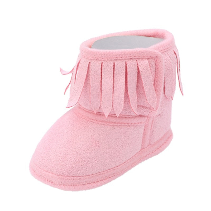 lovebabymammy.com Cute Autumn Winter Infants  Shoes Baby Girl Boy Polka Dot Knitting Boots Casual Sneakers Non-slip Soft Soled Walking Shoes