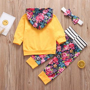 lovebabymammy.com 3Pcs Autumn Baby Girls Clothing Sets Newborn Infant Outfit Fashion Hoodie Floral Pants Headband Pullover New Born Clothing Set Vest