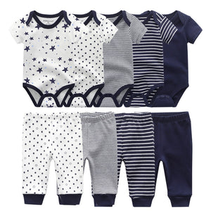 lovebabymammy.com Solid Bodysuits+Pants Baby Boy Clothes Clothing Sets 0-12M Baby Boy Girl Clothes Unisex Newborn Baby Cotton Roupa de bebe Girls Clothing Sets Boys Clothing Sets
