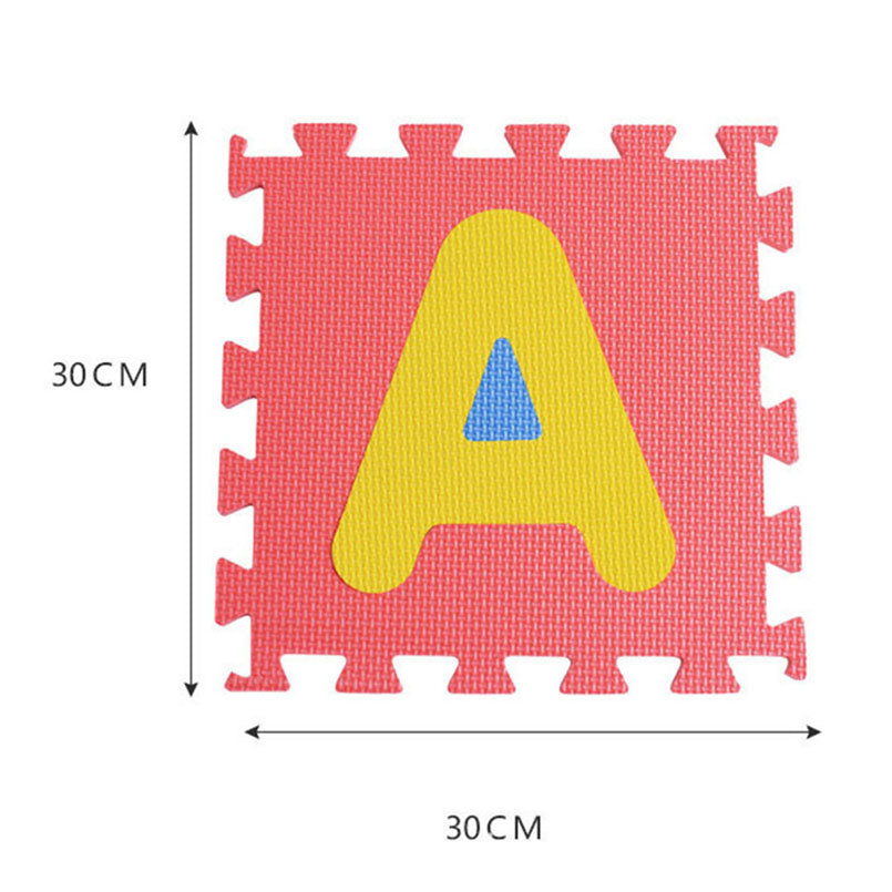lovebabymammy.com 30*30cm Foam English Alphabet Number Pattern Play Mat For Baby Children Puzzle Toy Yoga Letter Crawling Mats Rug Carpet Toys