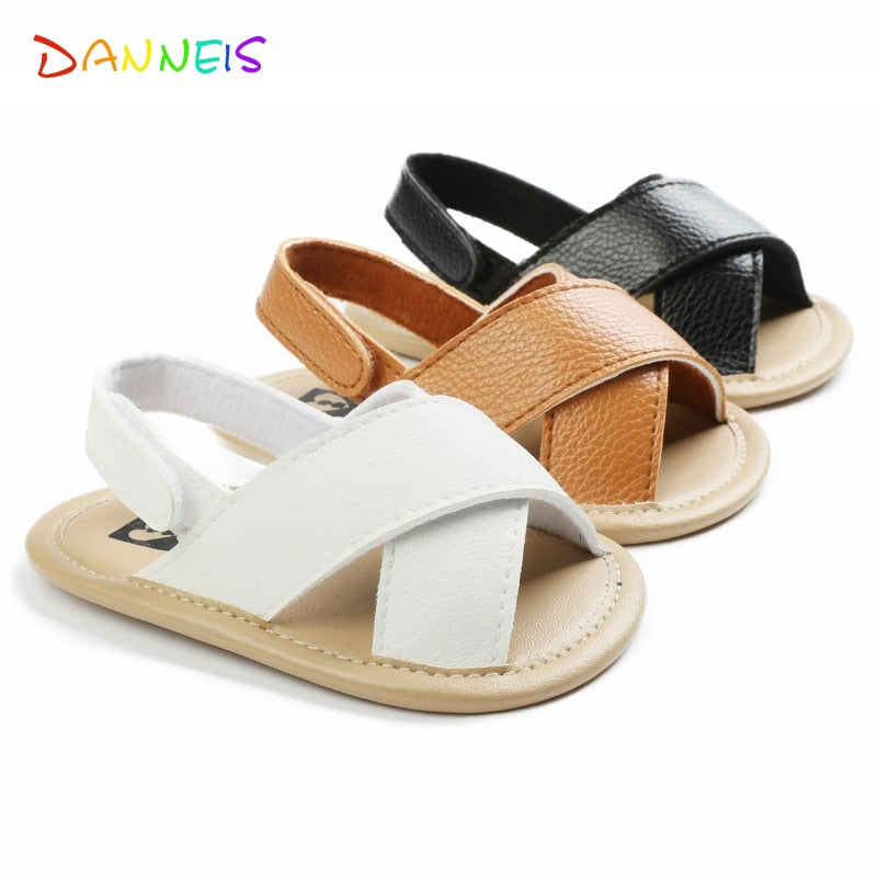 lovebabymammy.com 2020 New arrival Rome Style Leather Baby Boys Sandals Newborn Casual Hollow Sandals Shoes Soft Sole Breathable Toddler Footwear
