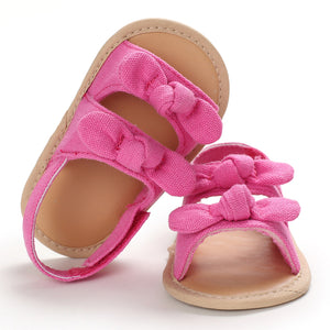 lovebabymammy.com Summer Baby Sandals for Girls Newborn Dot Bow Princess Baby Girl Shoes Cotton Sandals Baby Girl Shoes