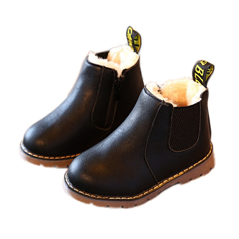 lovebabymammy.com Girls Boots Snow Zipper Winter Warm Plush Kids Shoes Botas For Newborn Baby Boy Girl Shoes Toddler Outdoor Tenis Infantil