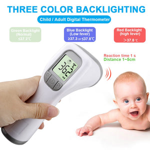lovebabymammy.com Infrared Forehead Thermometer Digital Non-contact Thermometer Body Temperature Fever Measure Tool for Baby Adult Kids