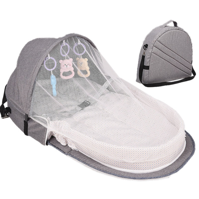 lovebabymammy.com Baby Bed Travel  Sun Protection Mosquito Net With Portable Bassinet Baby Foldable Breathable Infant Sleeping Basket