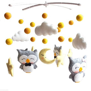 lovebabymammy.com Baby Rattles Baby Toys 0-12 Months White Rotary Baby Mobile On the Bed Music Box Newborns Mobile Bed Bell Toys Holder Room Decor