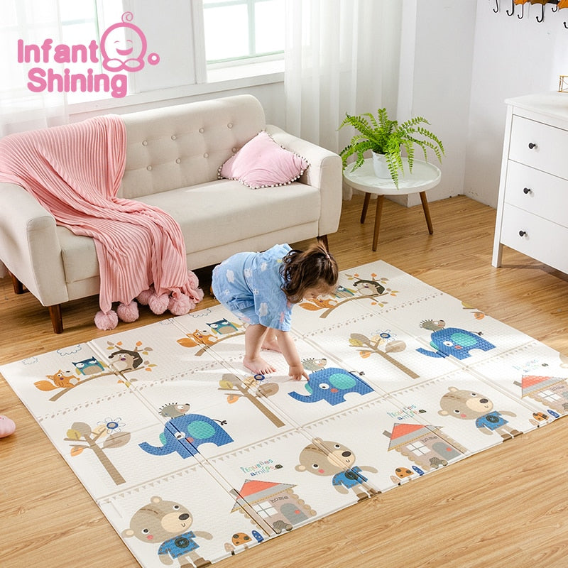 lovebabymammy.com Infant Shining Baby Mat Portable Foldable Baby Climbing Pad 150X200x1CM Baby Play Mat Foam Pad XPE Tasteless Parlor Game Blanket