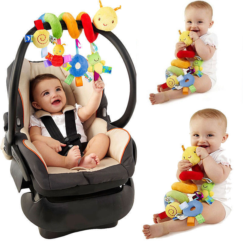 lovebabymammy.com 2019 Newest Style Cute Activity Spiral Crib Stroller Car Seat Travel Hanging Toys Baby Rattles Toy Colorful (Multicolor)