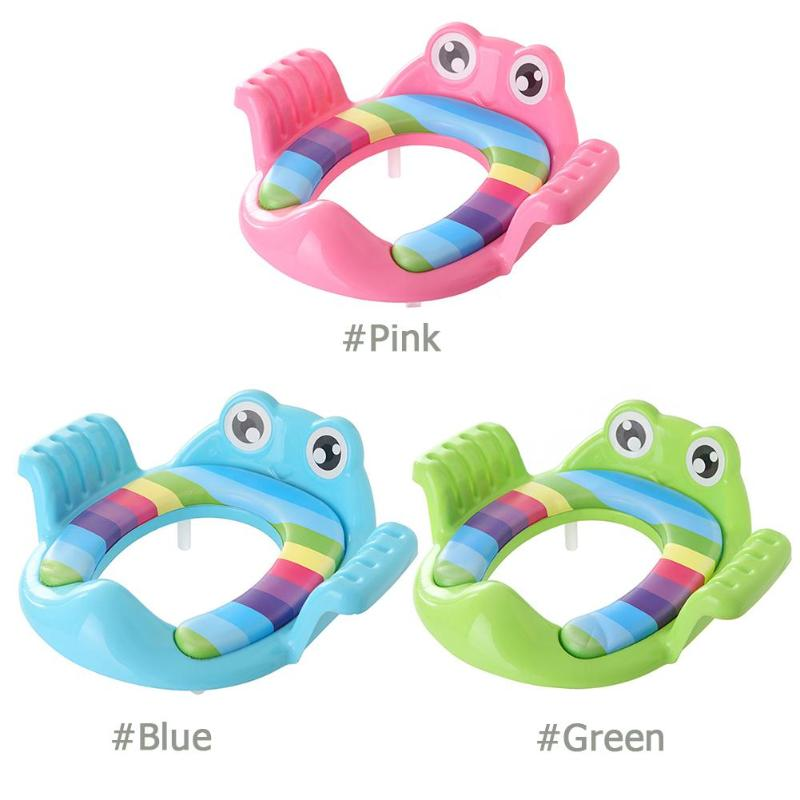 lovebabymammy.com Baby Toilet Potty Seat Children Potty Safe Seat With Armrest for Girls Boy Toilet Training Outdoor Travel Infant Potty Cushion