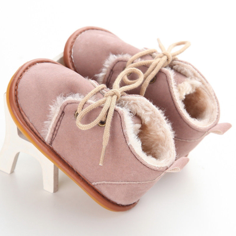 lovebabymammy.com Newborn Baby Winter Boots Infant Girls Boys Baby Snow Booties Toddler Fur Warm Boots arrival Style Little Kids Strappy Shoes