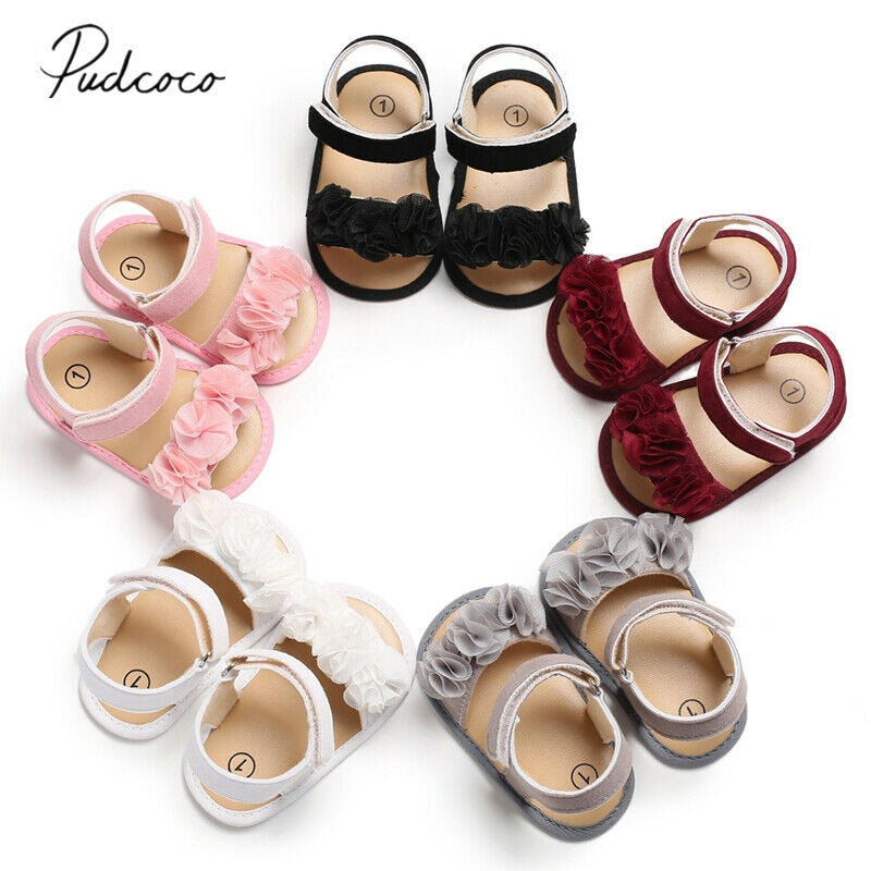 lovebabymammy.com 2020 Children Summer Clogs 0-18M Newborn Infant Baby Girl Princess Floral Sandals Sneakers Toddler Soft Crib Walkers Shoes