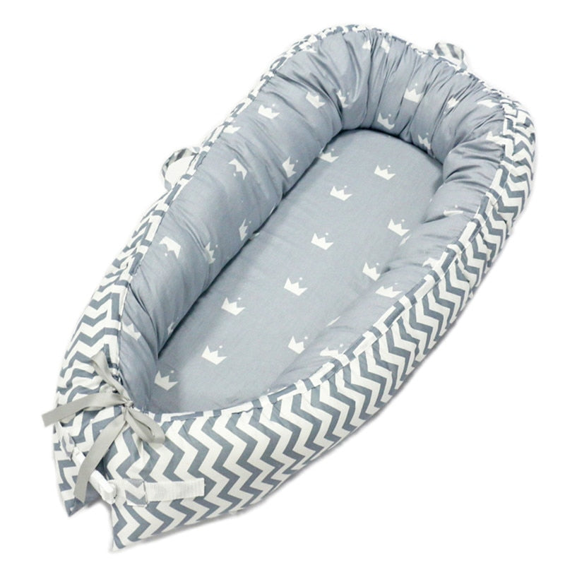 lovebabymammy.com 80*50cm Baby Nest Bed Portable Crib Travel Bed Infant Toddler Cotton Cradle for Newborn Baby Bed Bassinet Bumper