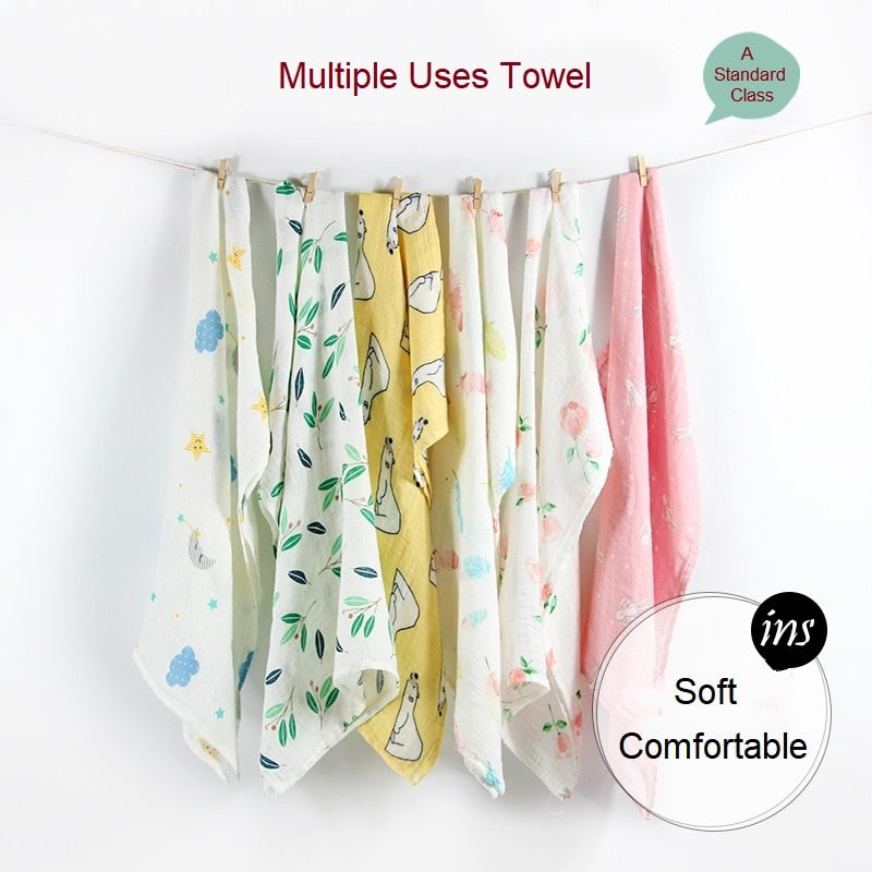lovebabymammy.com Newborn Blankets Bamboo Bath Baby Swaddle Kids Muslin Organic Cotton Fabric Super Soft Stuff Girls Burp Cloth Towel Monthly Wrap