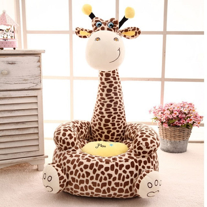 lovebabymammy.com Cartoon Kids Seats Sofa Comfortable PP Cotton Animal Giraffe Small Big Size Baby Portable Chair Gifts for Children