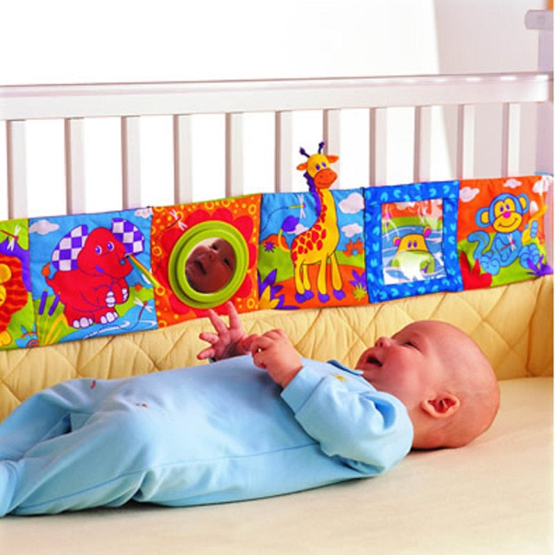 lovebabymammy.com Baby Toys Knowledge Baby Cloth Book Around Multi-touch Multifunction Fun And Double Colorful Newborn Bed Bumper 0-12 Months