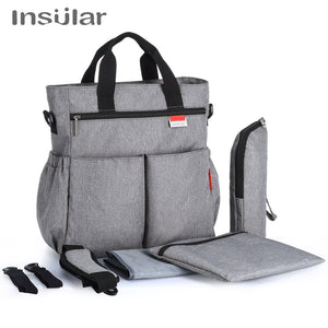 lovebabymammy.com Insular Fashion Baby Diaper Bag Nappy Bags Waterproof Changing Bag Multifunctional Mommy Stroller Bag