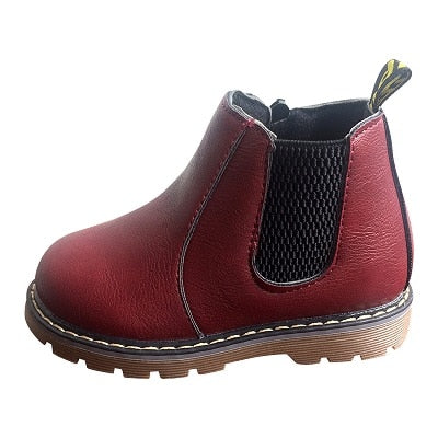 lovebabymammy.com Hot SALE Kids Shoes Girls Boots Autumn Winter New Fashion Boys Gentleman Shoes Children Soft Outdoor Shoes Boys Boots Size 26-36
