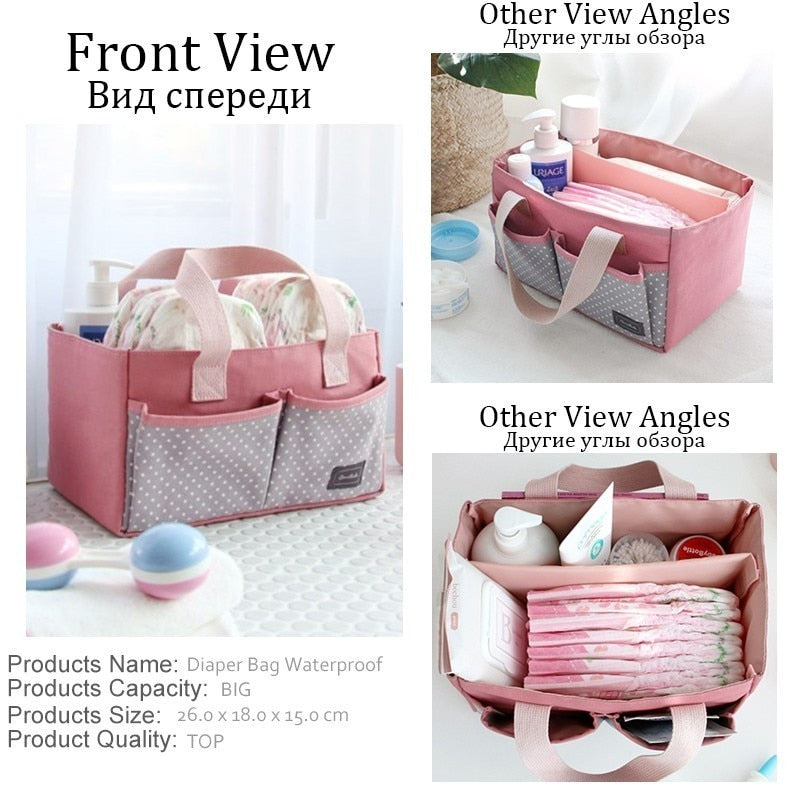 lovebabymammy.com 2019 Fashion Mommy Fashion Multifunctional Mummy Bag Baby Diaper Nappy Pram Stroller Hanging Bag Travel Nappy Diaper Bag