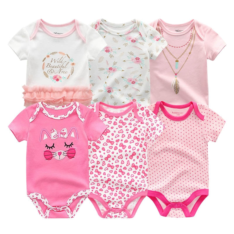 lovebabymammy.com 2020 Newest 6PCS/lot Baby Girl Clothe Roupa de bebes Baby Boy Clothes Unicorn Baby Clothing Sets Rompers Newborn Cotton 0-12M Girls Clothing Sets Boys Clothing Sets