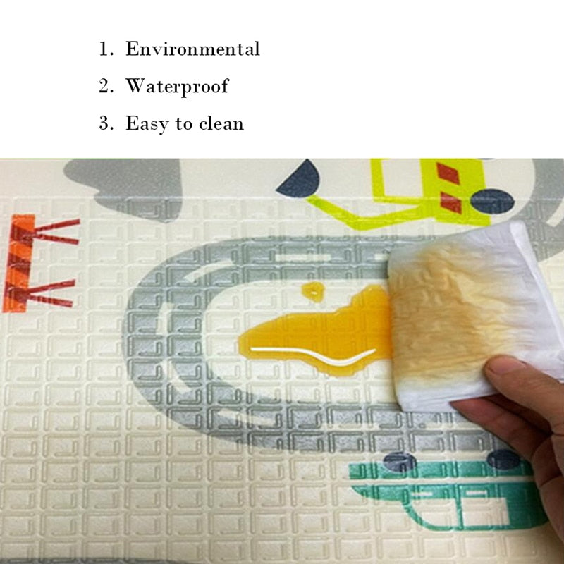 lovebabymammy.com Baby Play Mat Waterproof XPE Soft Floor Playmat Foldable Crawling Carpet Kid Game Activity Rug Folding Blanket Educational Toys