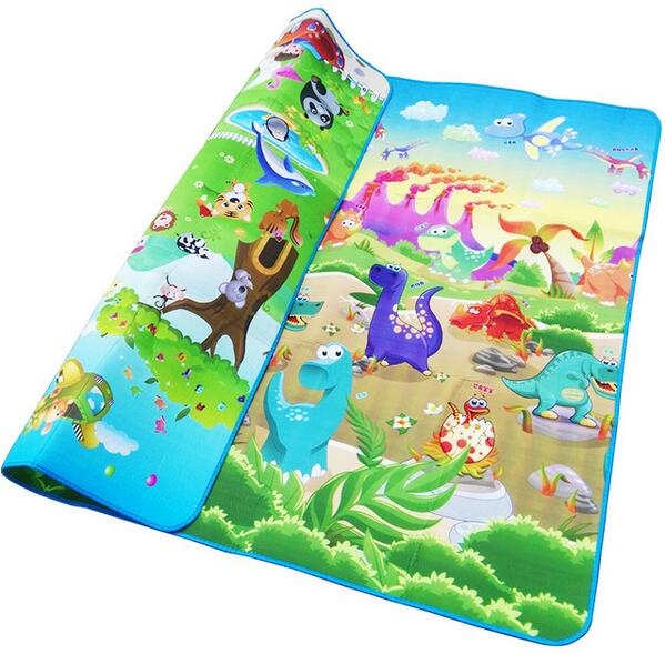lovebabymammy.com Baby Play Mat 0.5cm Thick Crawling Mat Double Surface Baby Carpet Rug Animal Car+Dinosaur Developing Mat for Children Game Pad