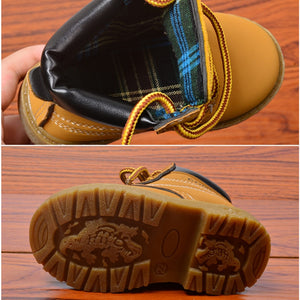 lovebabymammy.com Autumn Winter Baby Boots Toddler Martin Boots Kids Shoes Boys Girls Snow Boots Girls Boys Plush Fashion Boots Shoes Size 21-30