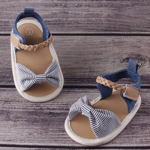 lovebabymammy.com Baby Girl Summer Soft Sole Shoes Bowknot Sandals Toddler Infant Prewalkers Baby Sandals