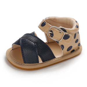 lovebabymammy.com Summer Baby Kid Boy Girl Sandals Prewalker Newborn Leather Soft Sole Crib Shoes