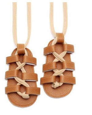 lovebabymammy.com New Summer PU Leather Baby Girls Flat Heels Lace-up Sandals Girls Rome Sandals Baby High Gladiator Sandals Kids Sandal