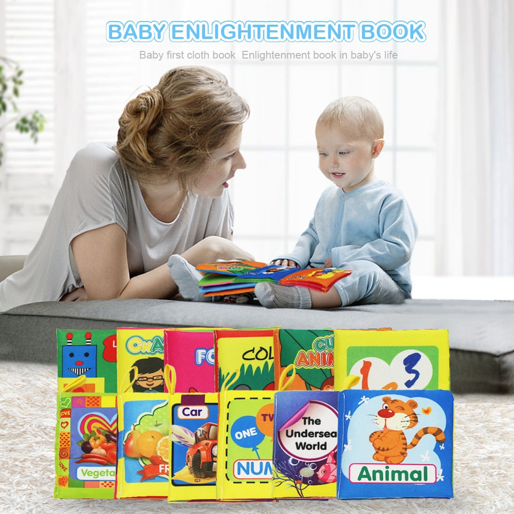 lovebabymammy.com Coolplay Soft Cloth Books Rustle Sound Infant Baby Quiet Books Educational Stroller Rattle Toys For Newborn Baby 0-12 month }