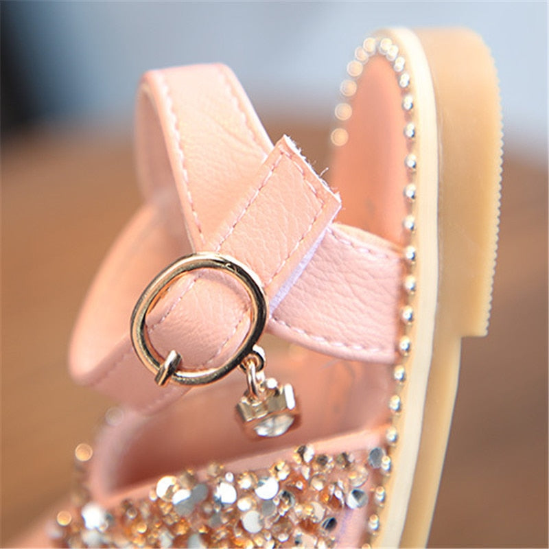 lovebabymammy.com 2020 New Girl Baby Sandals Sequin Rhinestone Little Girl Princess Sandals 0-3 Year Summer Toddlers Shoes Flat Soft