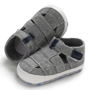 lovebabymammy.com Fashion Baby Sandals Toddler Infant Hollow Soft Crib Sole Canvas Shoes Little Girls Boys Kids Soft Crib Prewalker Sandals Clogs