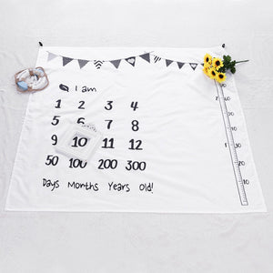 lovebabymammy.com Baby Blanket Newborn Swaddle Stroller Bedding Wrap New Photo Background Monthly Growth Number Photography Blanket