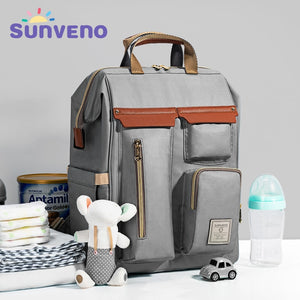 lovebabymammy.com Sunveno Diaper Bag Backpack Large Capacity Baby Bag For Stroller Backpack For Moms Mummy Travel Nappy Bag Waterproof