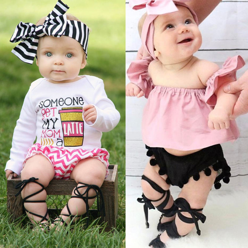 lovebabymammy.com Baby Newborn Infant Toddler Baby Girl Leather Bandage Sandals Summer Pram Flat Shoes Comfortable Soft Pram Shoes WEAR