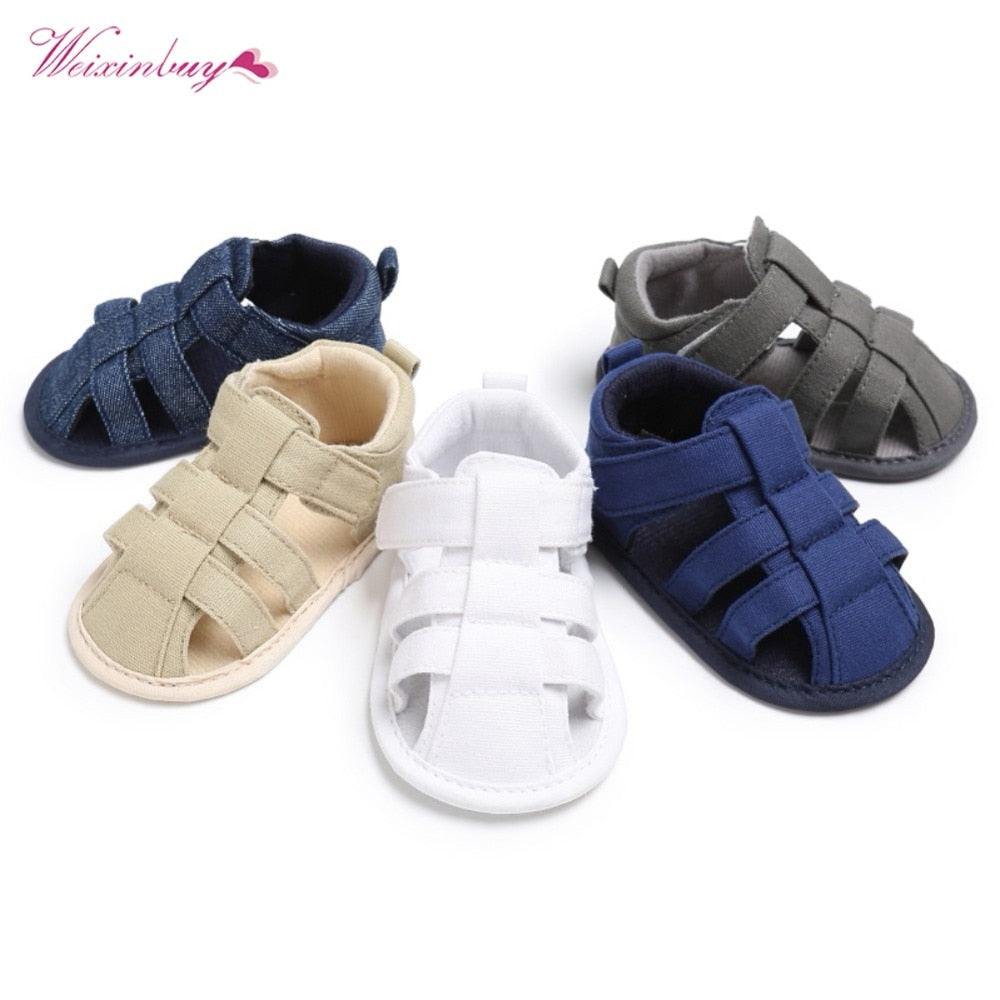 lovebabymammy.com 2020 Canvas Jeans New Baby Moccasins Child Summer Boys 7 Style Fashion Sandals Sneakers Infant Shoes 0-18 Month Baby Sandals