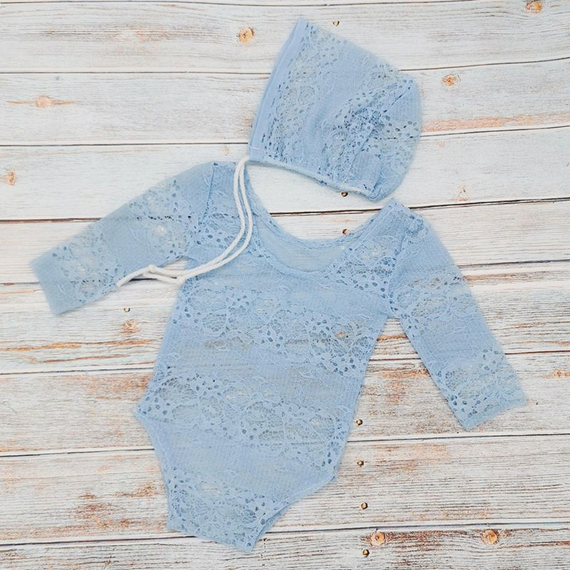 lovebabymammy.com New Children Photography Clothing Newborn Lace Clothes Full Moon Hundred Days Baby Princess Hat Onesies Girls Clothing Sets
