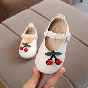 lovebabymammy.com Toddler Baby Girls Shoes Newborn Kids Artificial PU Casual Cherry Princess Shoes Little Girls Moccasins Soft Bottom Leather Shoes