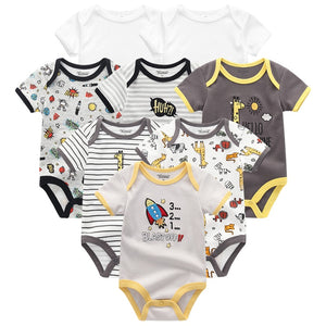 lovebabymammy.com Baby Clothes 8Pcs/lots Unisex Newborn Boy&Girl Rompers roupas de bebes Cotton Baby Toddler Jumpsuits Short Sleeve Girls Clothing Sets Boys Clothing Sets
