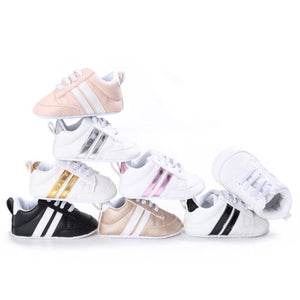 lovebabymammy.com New Sneakers Newborn Baby Crib Sport Shoes Boys Girls Infant Lace up Soft Sole shoes