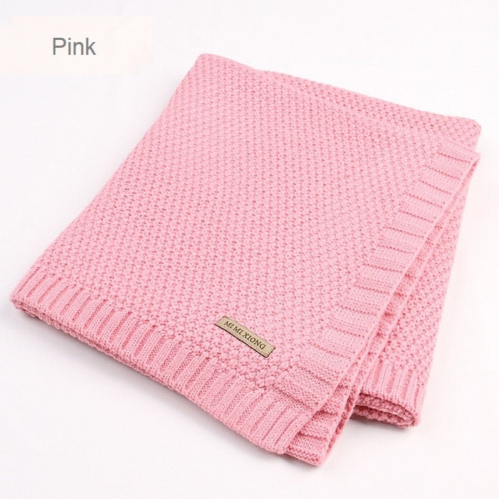 lovebabymammy.com Baby Blanket Knitted Newborn Blankets Super Soft Stroller Wrap Infant Swaddle Kids Inbakeren Stuff For Monthly Toddler Bedding