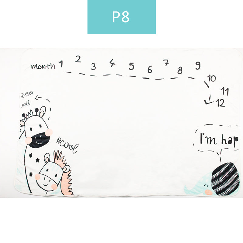 lovebabymammy.com Happy Flute  Baby Blanket Swaddle Soft Flannel Bathing Towels Printed Wrap DIY Baby Photography Props Blanket