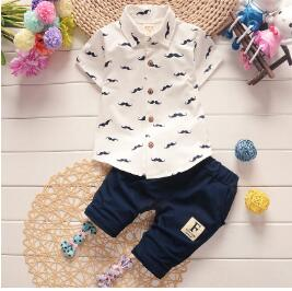 lovebabymammy.com Summer Baby Boys Clothes Suits Gentleman Style Boys Clothing Sets T- Shirt+Pants 2 Pcs Casual Sport Suits Toddler Sets