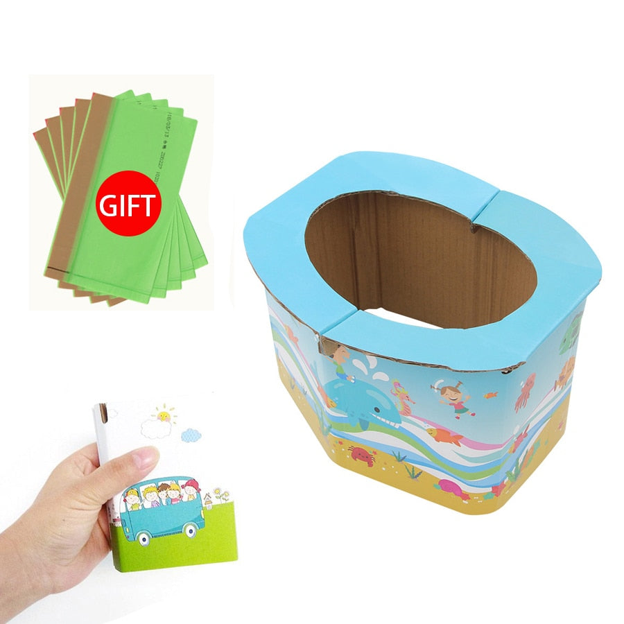 lovebabymammy.com Foldable Child Kids Portable Folding Potty Seat Boys Girls Baby Travel Toilet Training Infant Emergency Potties with Free Bags