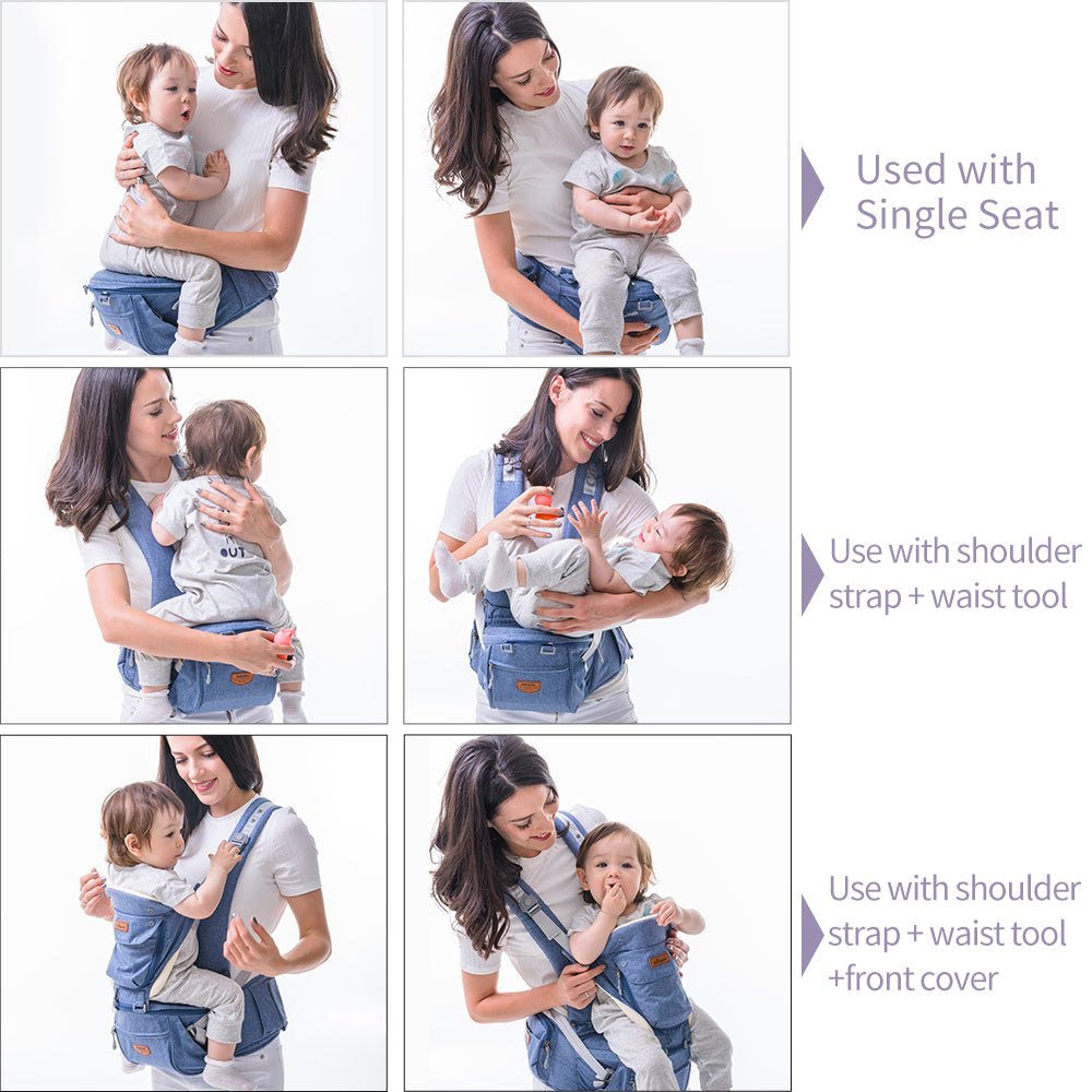 lovebabymammy.com Ergonomic Baby Carrier Infant Baby Hipseat Waist Carrier Front Facing Ergonomic Kangaroo Sling for Baby Travel 0-36M