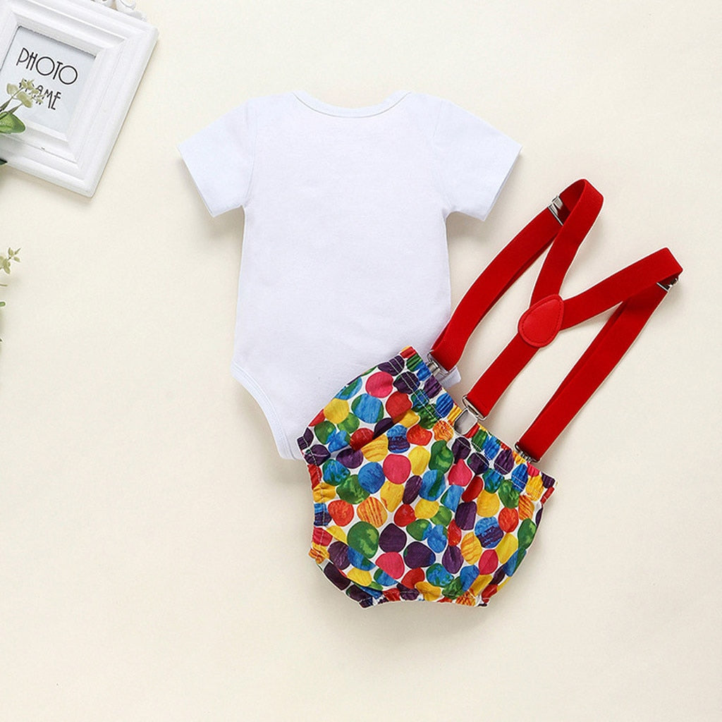 lovebabymammy.com new year clothes My First New year girl boy clothes Infant Newborn Baby 1 birthday letter Bow Tie+belt pants outfit Xmas Clothes Girls Clothing Sets Boys Clothing Sets