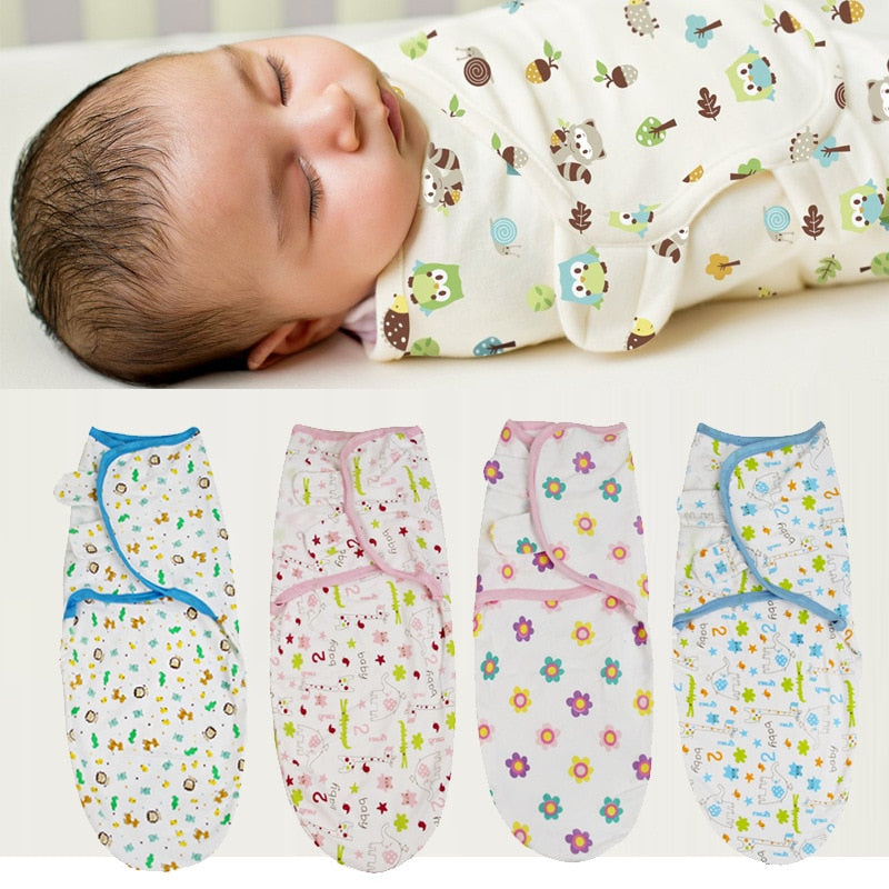 lovebabymammy.com 0-3 Months 100% Cotton Baby Swaddle Wrap Blanket Newborn Infants Baby Envelop Sleep Bag Sleepsack Mantas Para Bebe KF679