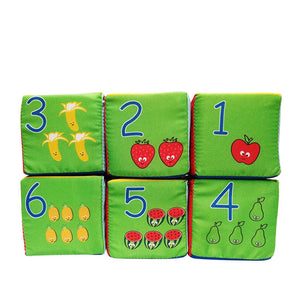 lovebabymammy.com Baby Mobile Magic Cube Baby Toy Plush Block Clutch Rattles Early Newborn Baby Educational Toys 0-12 Months