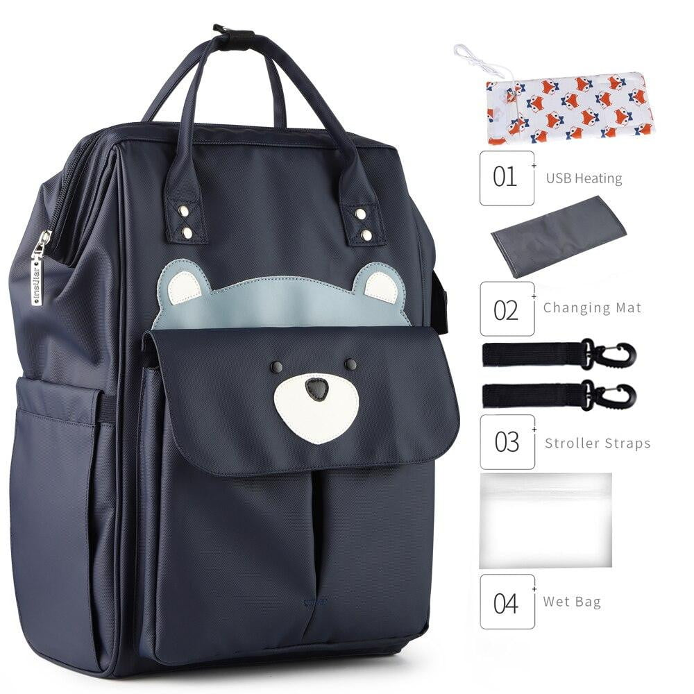 lovebabymammy.com New Large Capacity Mummy Maternity Nappy Bag Baby Changing Backpack Diaper Bag Organizer For Mother Bag Mom Multi-function Bolsa